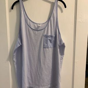 Old navy blue and white stripped plus sized tank.